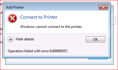 'windows cannot connect to the printer. Access is denied