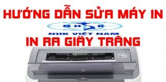 máy in in ra giấy trắng