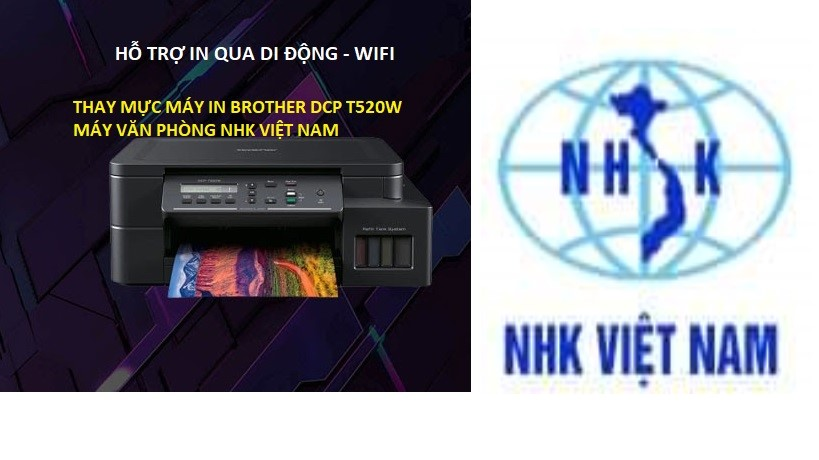 thay mực máy in brother dcp t520w